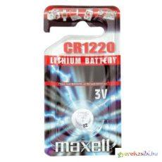 Maxell: Alkáli lítium gombelem CR1220 1db bliszteres csomagolásban