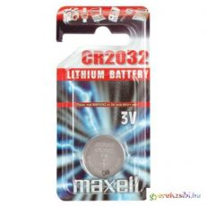 Maxell: Alkáli lítium gombelem CR2032 1db bliszteres csomagolásban