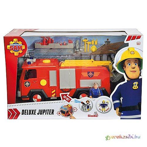 Tűzoltó Sam: Jupiter tűzoltó autó 2db figurával Fény és hangeffektes – Simba