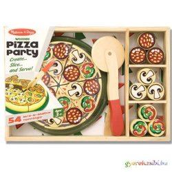 Sütés-főzés pizza party fa játék szett - Melissa & Doug