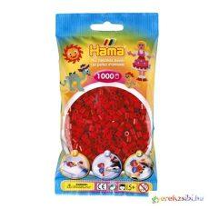 Hama: Élénk piros vasalható gyöngy 1000db-os Midi