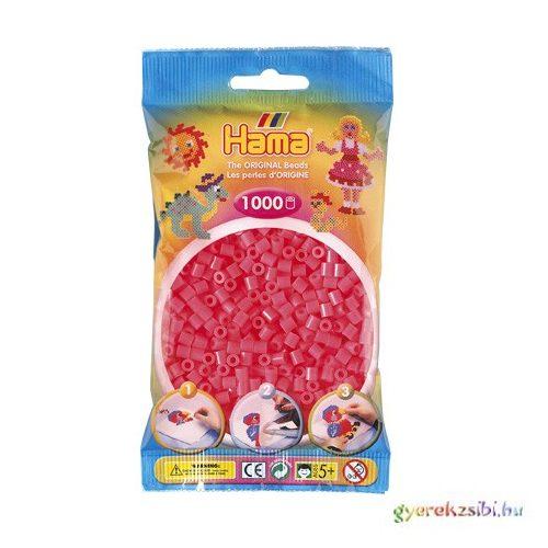 Hama: Neon pink vasalható gyöngy 1000db-os Midi