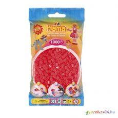 Hama: Neon piros vasalható gyöngy 1000db-os Midi