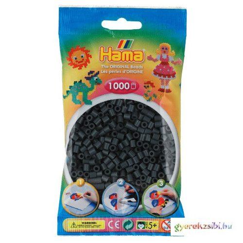 Hama: Vasalható gyöngy sötét szürke színű 1000db-os Midi