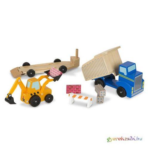 Munkagépek fa jármű készlet - Melissa & Doug