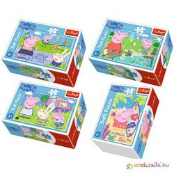 Peppa malac legszebb napjai 54db-os mini puzzle 4 féle - Trefl