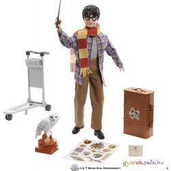 Harry Potter: Harry Potter és Hedwig bagoly a Hogwarts express 9 3/4 Roxfort vágányon