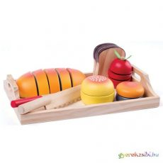 Fa reggeliző tálca vágható kiegészítőkkel