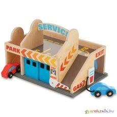 Autómosó és garázs fa játék Melissa&Doug