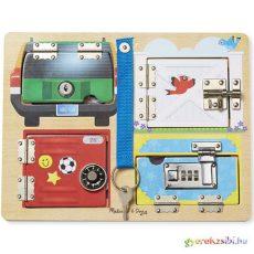 Zárak és kulcsok fa készségfejlesztő játék Melissa & Doug