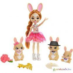 Enchantimals: Brystal Bunny baba nyuszi családdal