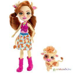 Enchantimals: Cailey Cow baba és Curdle játékfigura - Mattel