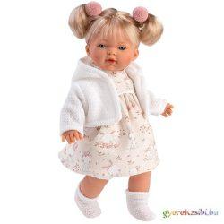 Llorens: Roberta 33cm-es síró baba nyuszis ruhában