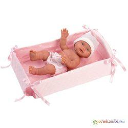 Llorens: Bebita 26cm-es kislány baba kisággyal