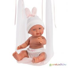 Llorens: Bebita 26cm-es kislány baba hintával