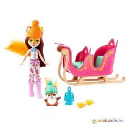 Enchantimals: Felicity Fox szánnal és kisállattal - Mattel
