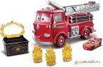Verdák: Piro tűzoltóautó kaszkadőr játékszett színváltós Villám McQueen kisautóval 1:55 - Mattel